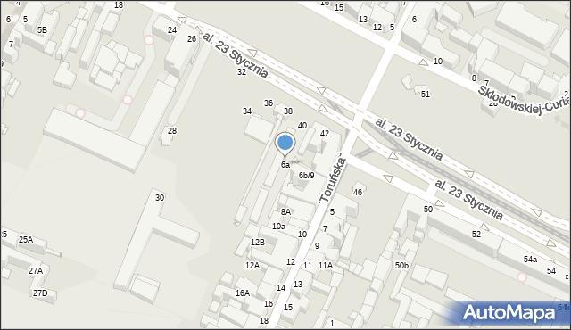 Grudziądz, Toruńska, 6a, mapa Grudziądza