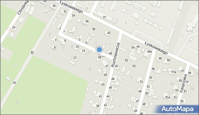 Grudziądz, Towarzystwa Jaszczurczego, 16, mapa Grudziądza