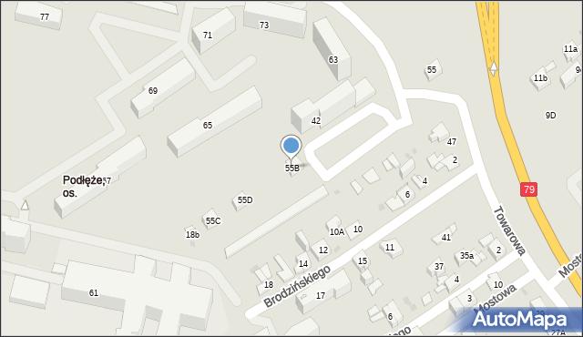 Jaworzno, Towarowa, 55B, mapa Jaworzno