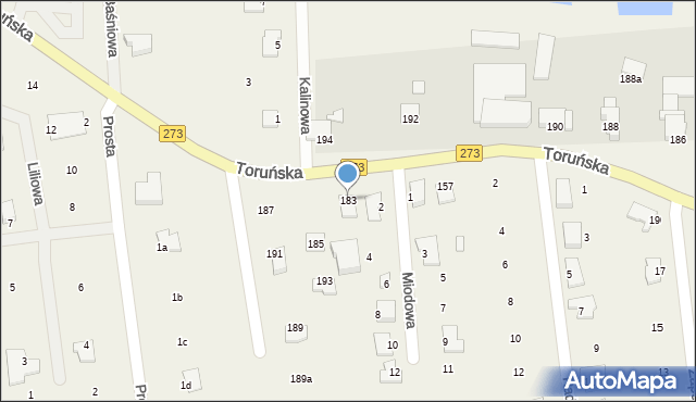 Mała Nieszawka, Toruńska, 183, mapa Mała Nieszawka