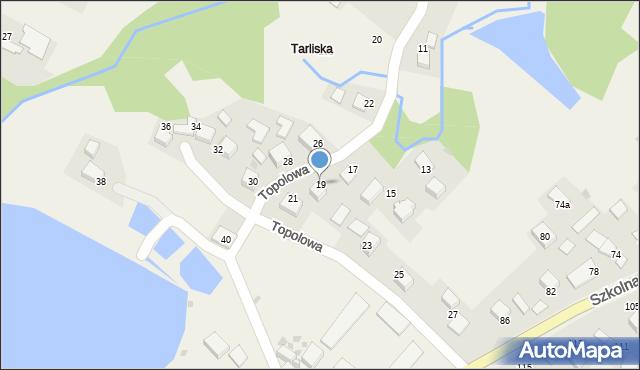Przeciszów, Topolowa, 19, mapa Przeciszów