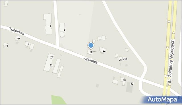 Przemyśl, Topolowa, 19, mapa Przemyśla