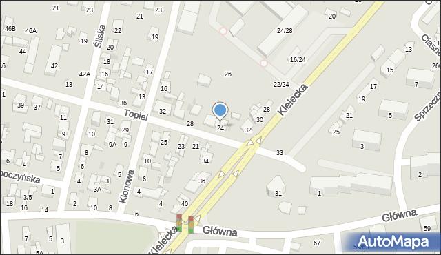Radom, Topiel, 24, mapa Radomia