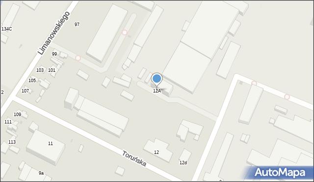 Radom, Toruńska, 12A, mapa Radomia