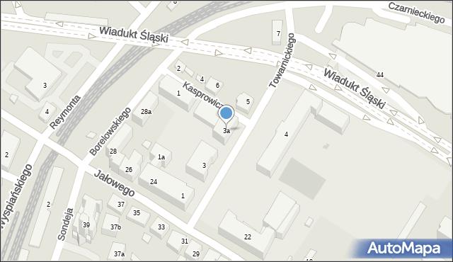 Rzeszów, Towarnickiego Ambrożego, 3a, mapa Rzeszów