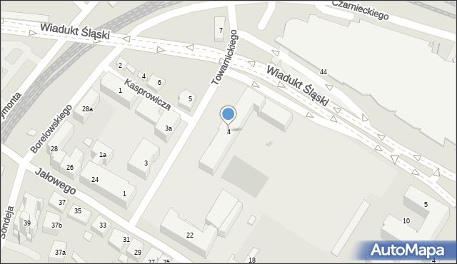 Rzeszów, Towarnickiego Ambrożego, 4, mapa Rzeszów