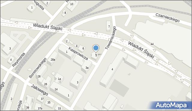 Rzeszów, Towarnickiego Ambrożego, 5, mapa Rzeszów