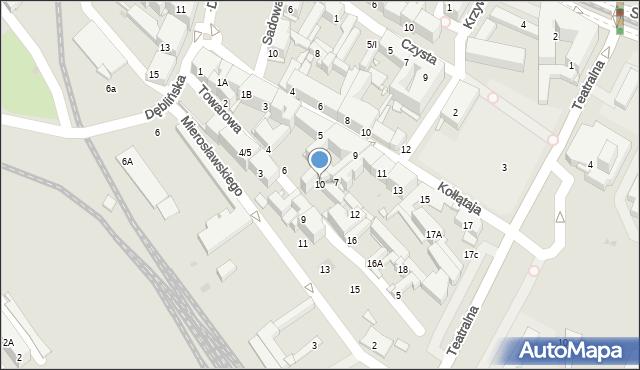 Sosnowiec, Towarowa, 10, mapa Sosnowca