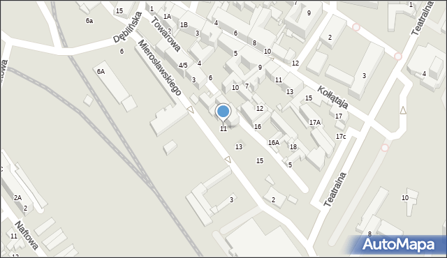 Sosnowiec, Towarowa, 11, mapa Sosnowca