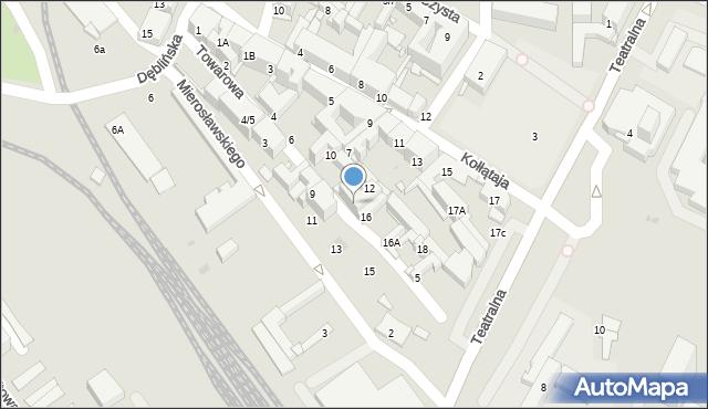 Sosnowiec, Towarowa, 14, mapa Sosnowca