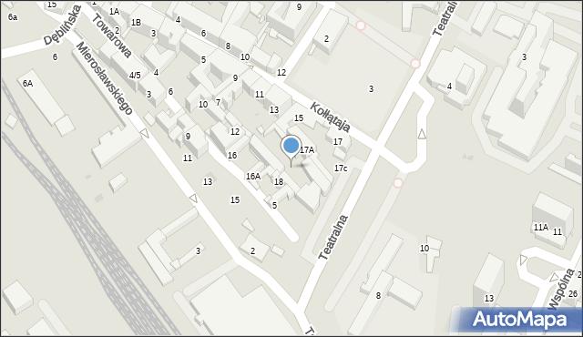 Sosnowiec, Towarowa, 21, mapa Sosnowca