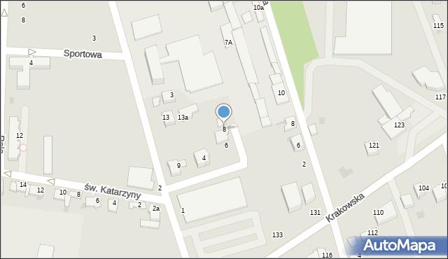 Tarnów, Tokarska, 8, mapa Tarnów