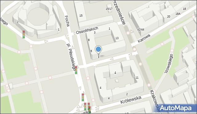 Warszawa, Tokarzewskiego-Karaszewicza Michała, gen., 1, mapa Warszawy