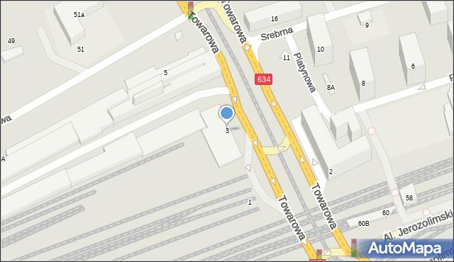 Warszawa, Towarowa, 3, mapa Warszawy