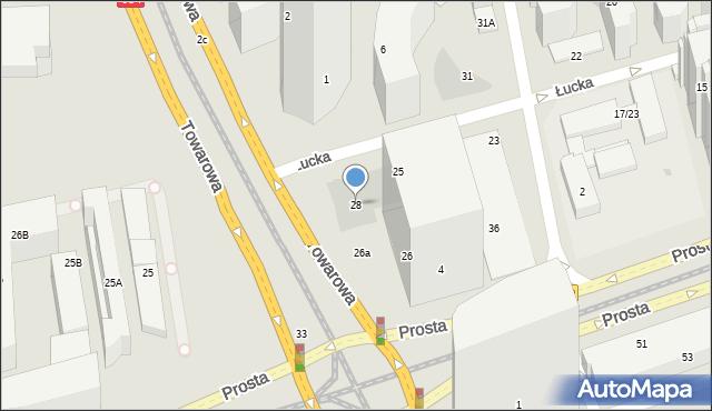 Warszawa, Towarowa, 28, mapa Warszawy