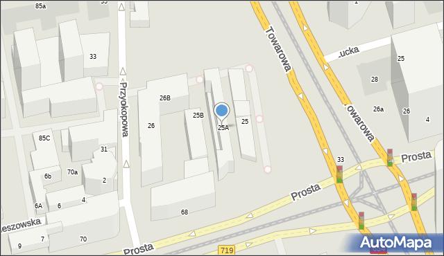 Warszawa, Towarowa, 25A, mapa Warszawy