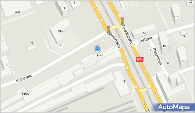 Warszawa, Towarowa, 5, mapa Warszawy
