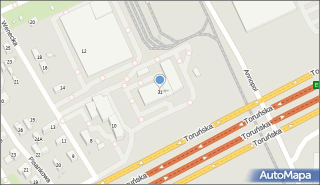 Warszawa, Toruńska, 31, mapa Warszawy