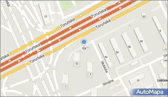 Warszawa, Toruńska, 52a, mapa Warszawy