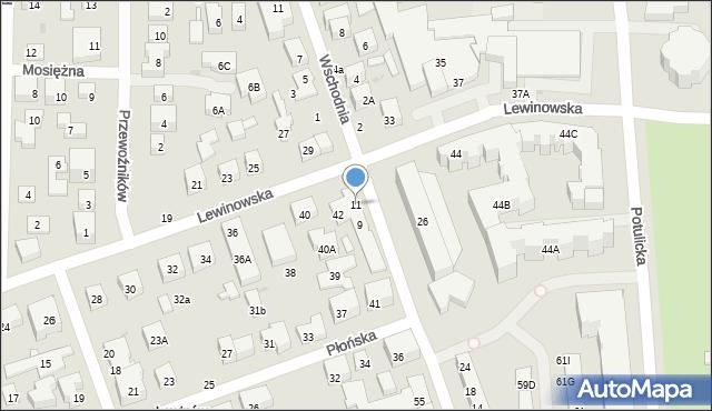 Warszawa, Topazowa, 11, mapa Warszawy