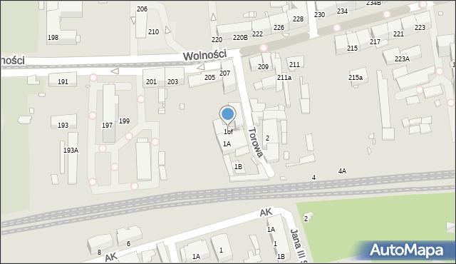 Zabrze, Torowa, 1of, mapa Zabrza