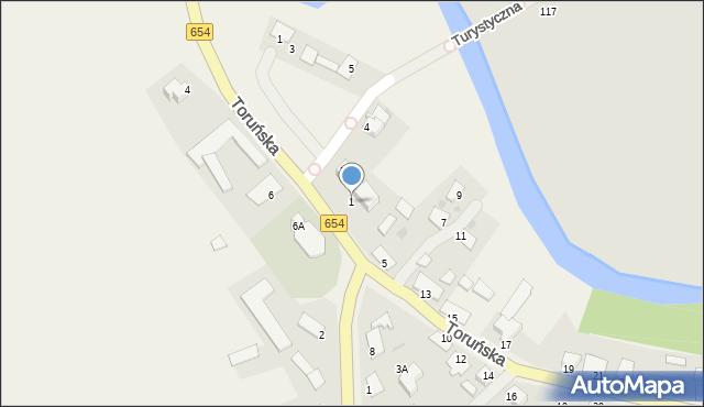 Złotoria, Toruńska, 1, mapa Złotoria