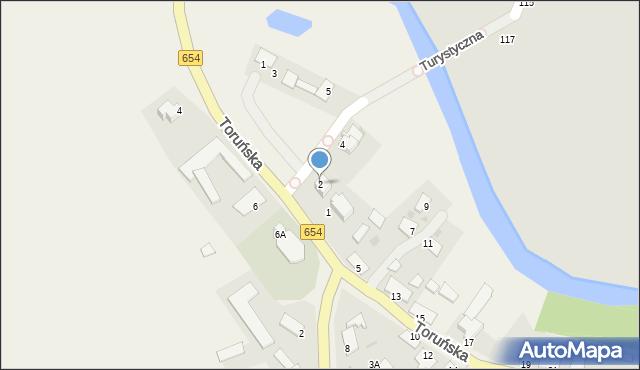 Złotoria, Toruńska, 2, mapa Złotoria