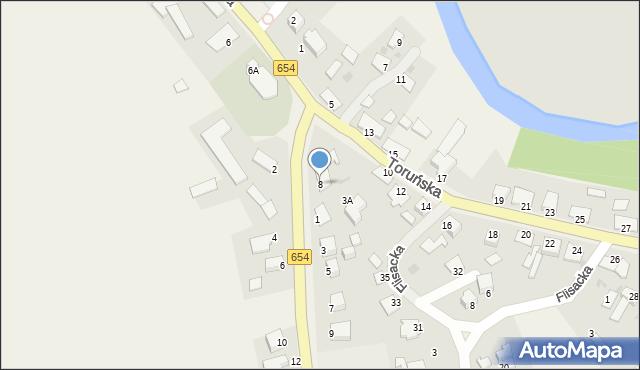 Złotoria, Toruńska, 8, mapa Złotoria