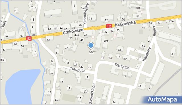 Andrychów, Traugutta Romualda, gen., 10a, mapa Andrychów