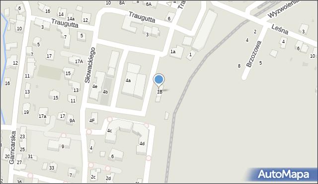 Andrychów, Traugutta Romualda, gen., 1B, mapa Andrychów