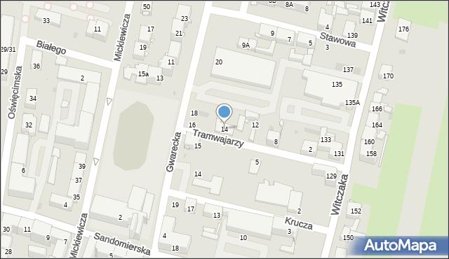 Bytom, Tramwajarzy, 14, mapa Bytomia