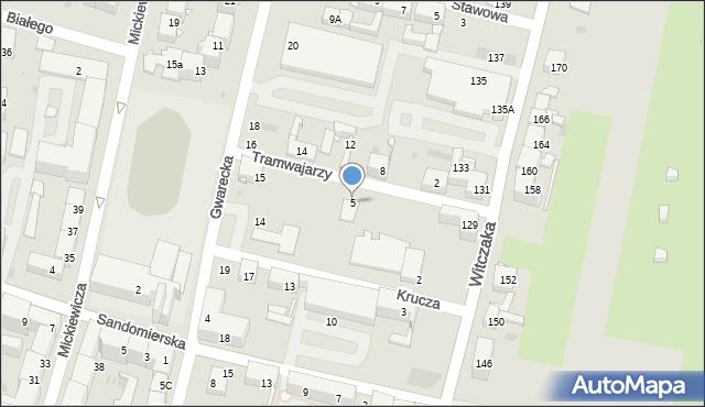 Bytom, Tramwajarzy, 5, mapa Bytomia