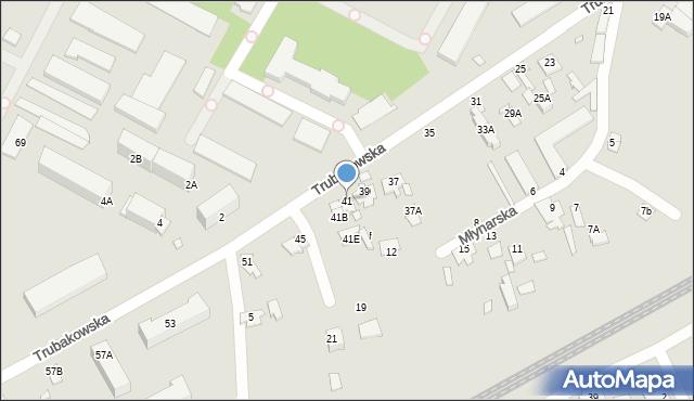 Chełm, Trubakowska, 41, mapa Chełma