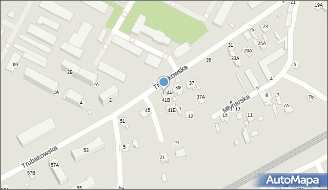 Chełm, Trubakowska, 41A, mapa Chełma