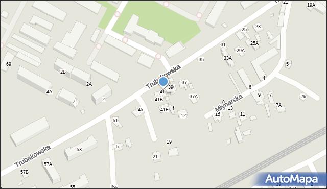 Chełm, Trubakowska, 41C, mapa Chełma