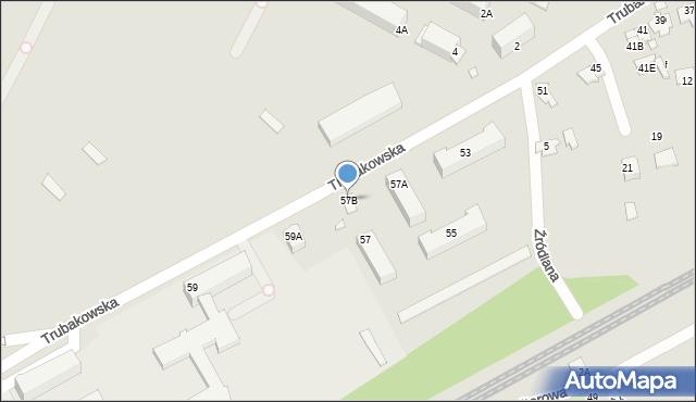 Chełm, Trubakowska, 57B, mapa Chełma