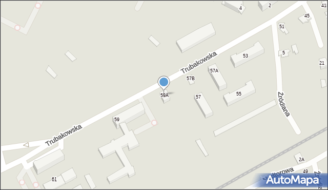 Chełm, Trubakowska, 59A, mapa Chełma