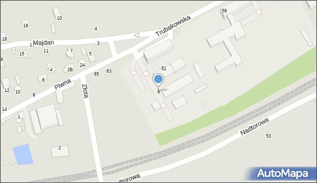 Chełm, Trubakowska, 6, mapa Chełma