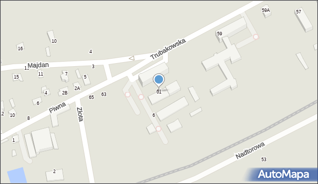Chełm, Trubakowska, 61, mapa Chełma