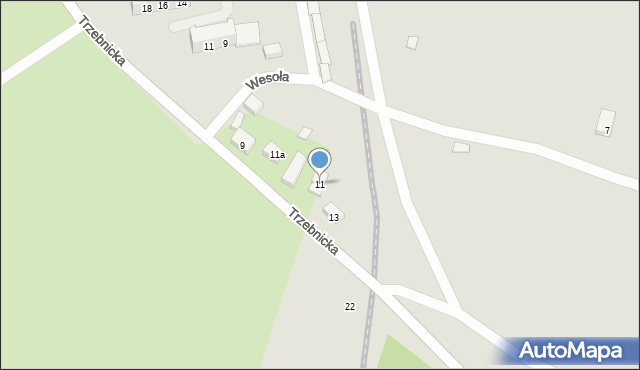 Chocianów, Trzebnicka, 11, mapa Chocianów