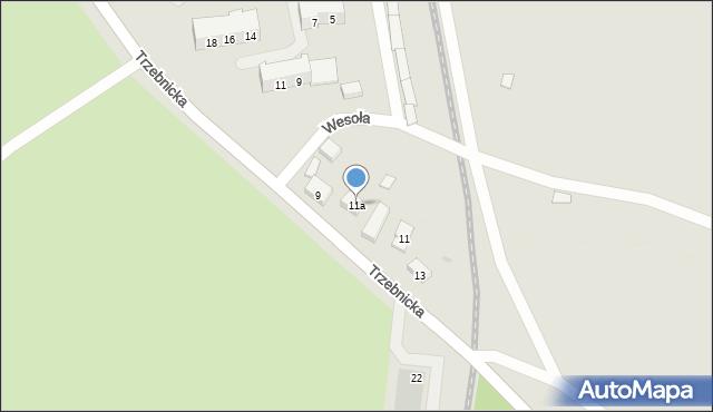 Chocianów, Trzebnicka, 11a, mapa Chocianów