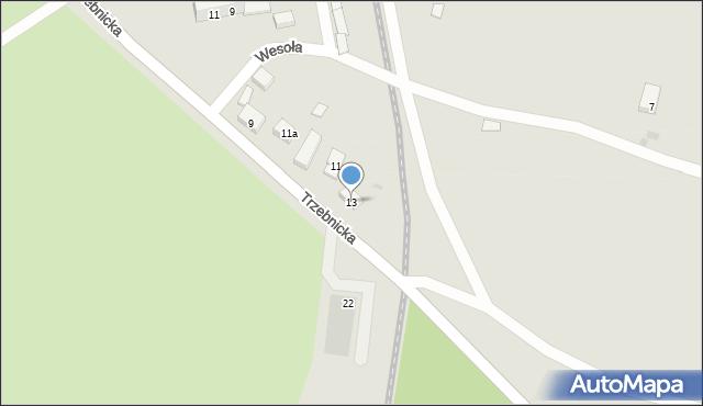 Chocianów, Trzebnicka, 13, mapa Chocianów