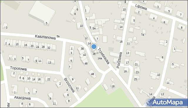 Chocianów, Trzebnicka, 16, mapa Chocianów
