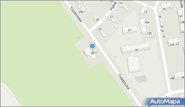 Chocianów, Trzebnicka, 20, mapa Chocianów