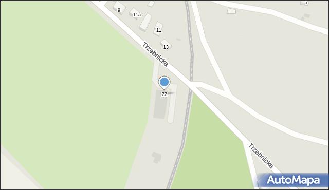 Chocianów, Trzebnicka, 22, mapa Chocianów