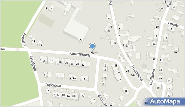 Chocianów, Trzebnicka, 5b, mapa Chocianów