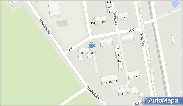 Chocianów, Trzebnicka, 7a, mapa Chocianów