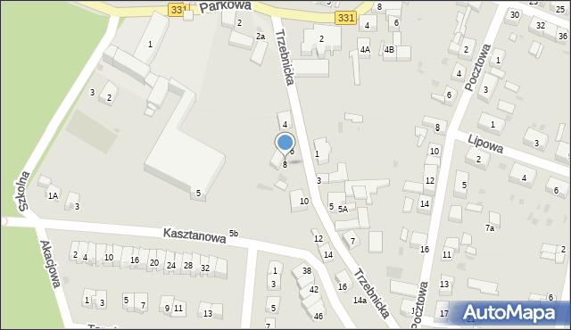 Chocianów, Trzebnicka, 8, mapa Chocianów