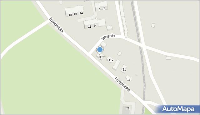 Chocianów, Trzebnicka, 9, mapa Chocianów