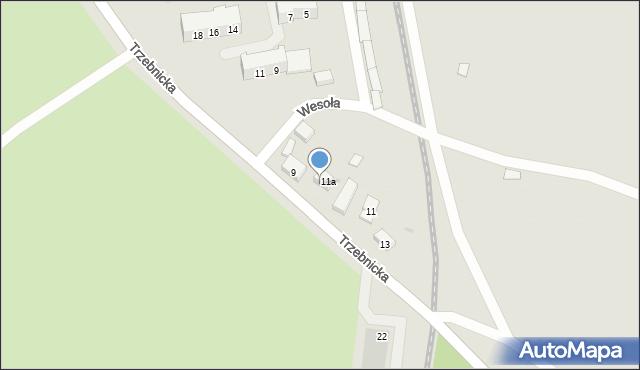 Chocianów, Trzebnicka, 9a, mapa Chocianów